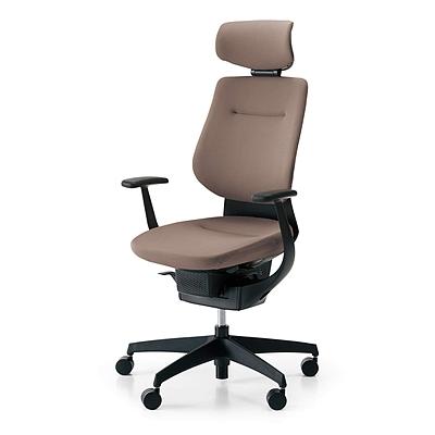 国誉 ing系列高背办公椅 (浅咖啡G4M4+黑框) 带头靠  CR-G3205E6