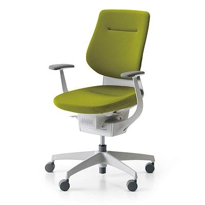 国誉 ing系列高背办公椅 (橄榄绿G4Q4+白框)  CR-GW3203E1