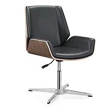 吴俚 西皮办公椅 (黑) W600*D660*H900mm  WL-9302C