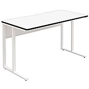 三茶会 脚垫款可组合式办公桌 (白) 长1200*宽600*高720mm  YD-126A-WH
