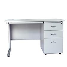 集大 办公桌(扁抽) (浅灰色) 1200*700*740mm  GX-1270A