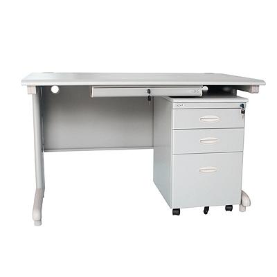 集大 办公桌(扁抽) (浅灰色) 1200*700*740mm  GX-1270B