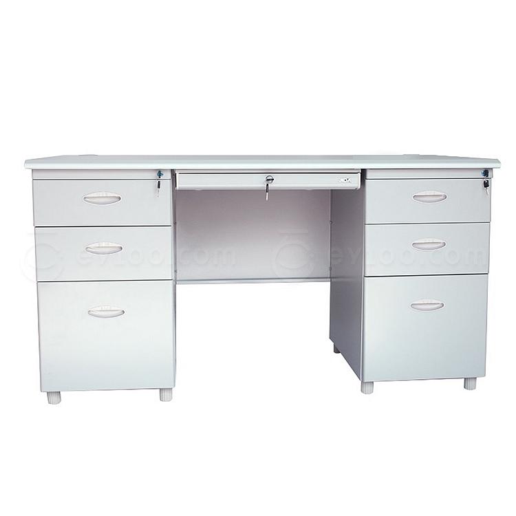 集大 办公桌 (浅灰色) 1400*700*740mm  HGX-1472A