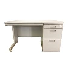 国誉 钢制单袖桌(第三代) (米白) 1400W*700D*740H  AXA-D33