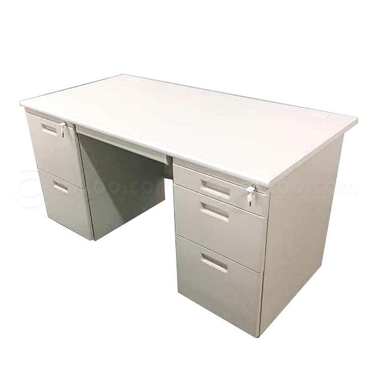 国誉 钢制双袖桌(第三代) (米白) 1400W*700D*740H  AXA-DD33