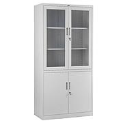 集大 雙節玻璃開門柜 (淺灰)  CA-BK10-K7