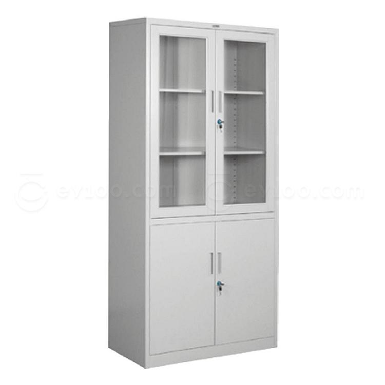 集大 双节玻璃开门柜 (浅灰)  CAB-BK10-K7