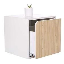 吴俚 积木系列彩色心情储物柜 (枫木色) 400*400*400mm  WLG003单抽式
