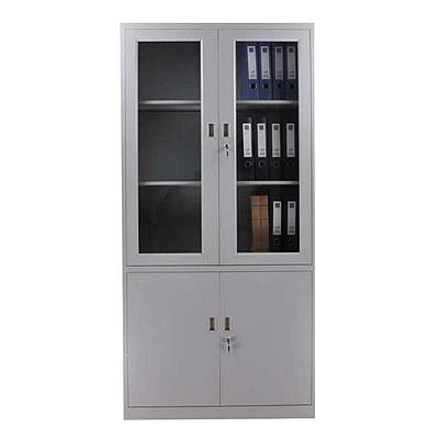 发力 玻璃文件柜 (灰白) 900*400*1850mm  FL-059