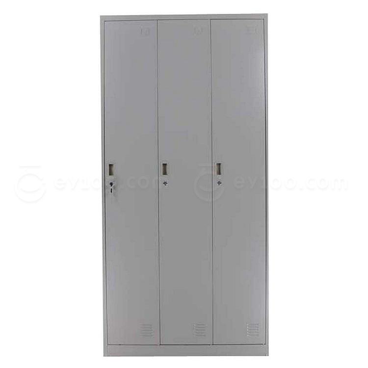 发力 三门更衣柜 (灰白) 900*500*1850mm  FL-137