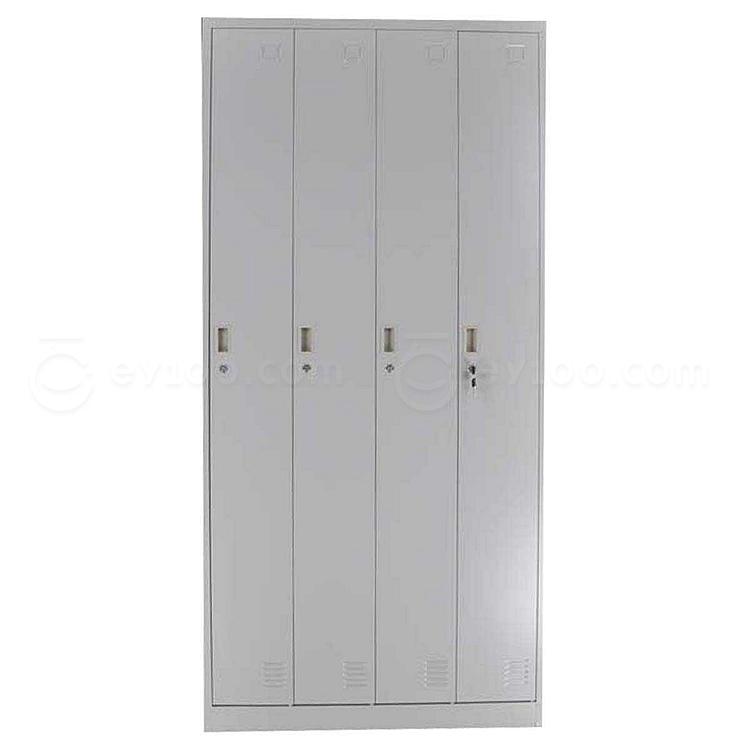 发力 竖四门更衣柜 (灰白) 900*500*1850mm  FL-138