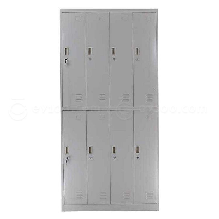 发力 八门更衣柜 (灰白) 900*500*1850mm  FL-145
