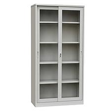 发力 通体玻璃柜 (灰白) 900*400*1850mm  FL-060