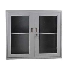 发力 780型对开门玻璃柜 (灰白)  FL-008