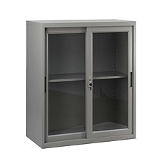 发力 780型移门玻璃柜 (灰白)  FL-009