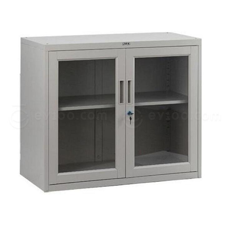 集大 单节玻璃开门柜 (浅灰) W900*D450*H750mm  CB-BK-7