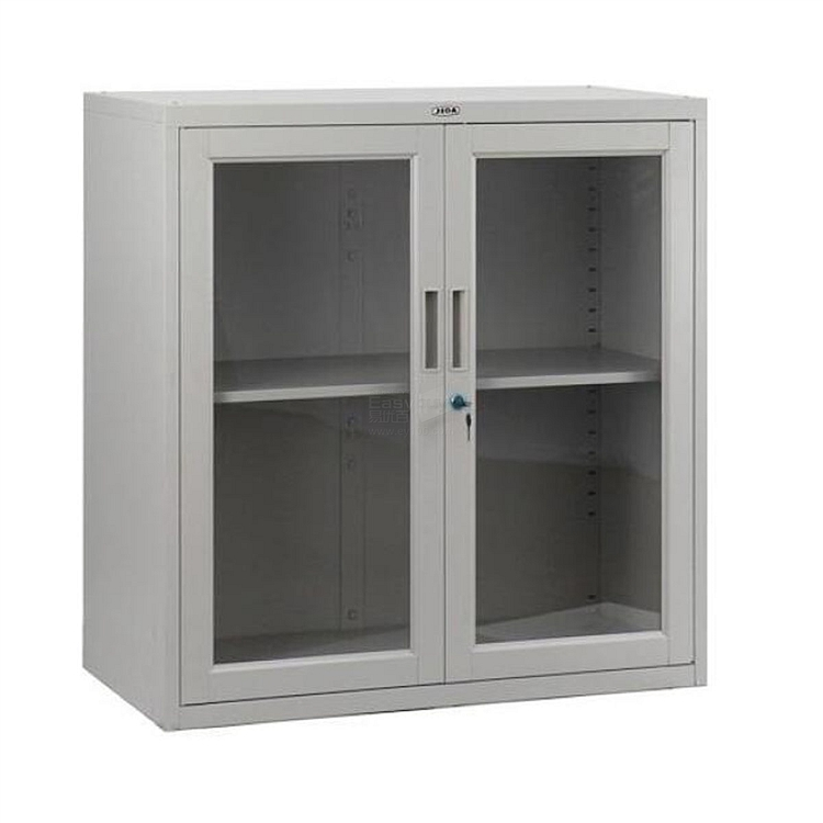 集大 单节玻璃开门柜 (浅灰) W800*D400*H920mm  CA-BK-9