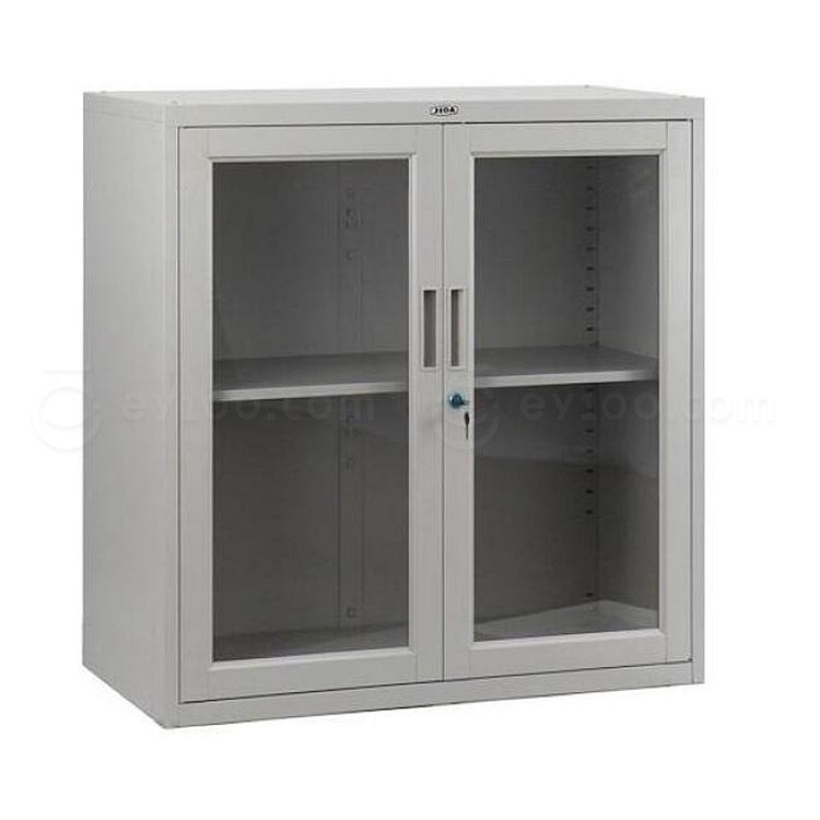 集大 单节玻璃开门柜 (浅灰) W900*D400*H920mm  CAB-BK-9