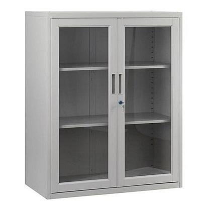集大 单节玻璃开门柜 (浅灰) W900*D400*H1090mm  CAB-BK-10