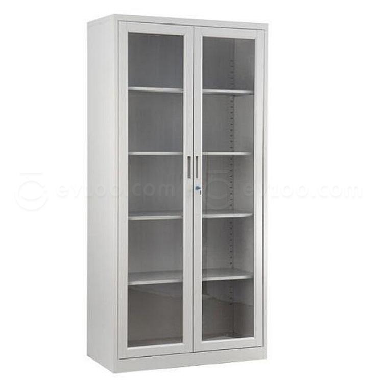 集大 单节玻璃开门柜 (浅灰) W800*D400*H1840mm  CA-BK-18