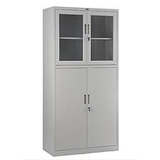 集大 玻璃双节开门柜 (浅灰) W900*D400*H1840mm  CAB-BK7-K10