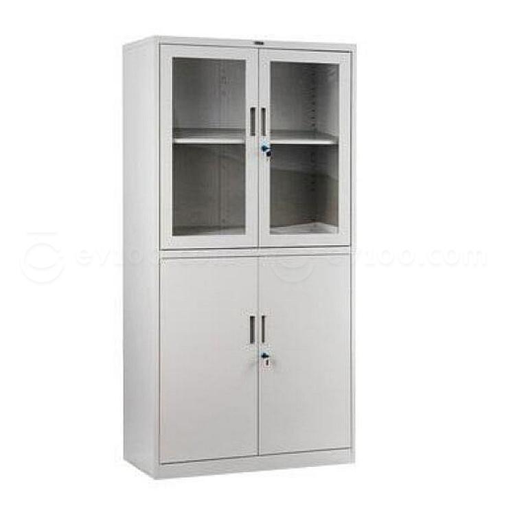 集大 玻璃双节开门柜 (浅灰) W800*D400*H1840mm  CA-BK9-K9