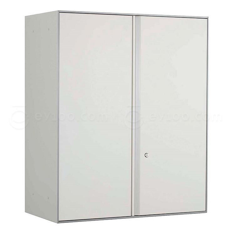 国誉 Softorage三层上置开门柜 900*450*1076mm 白色柜门,银色柜身  KSR-SU39W