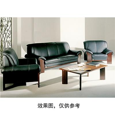 顺发 三人位环保皮沙发 (黑) 2000W*920D*900H  SH984