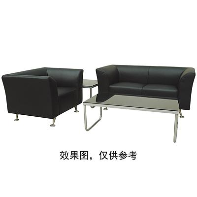 顺发 单人位环保皮沙发 (黑) 1060W*780D*690H  SH6101