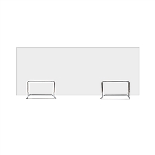 集大 双不锈钢支架桌上屏风 W1200*D4*H450mm  亚克力磨砂