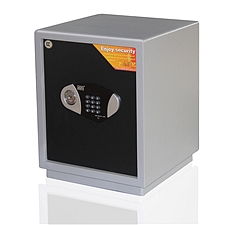 全能 电子密码保险箱防盗保险柜 (黑灰套色) 48KG  TGG-4538