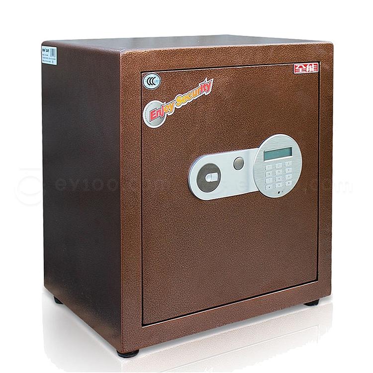 全能 电子密码保险箱防盗保险柜 (棕色) 52KG  HG-4538