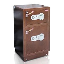 全能 电子密码保险箱防盗保险柜 (棕色) 88KG  HG-7645D