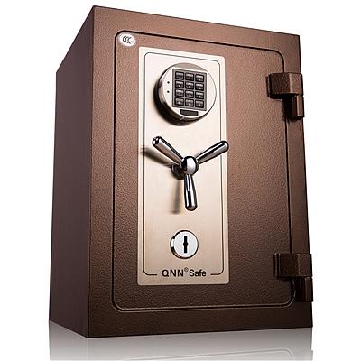 全能 防火电子密码保险箱防盗保险柜 (锤纹金) 100KG  B-5440