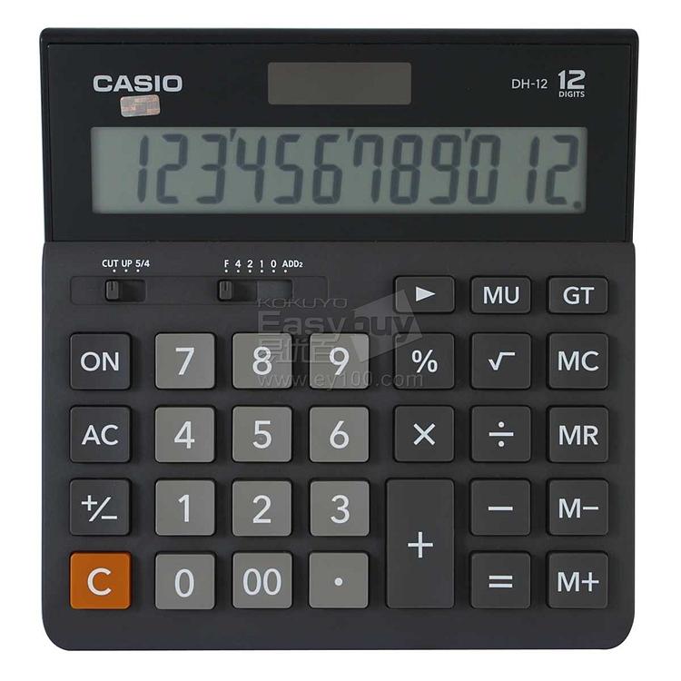 卡西欧 计算器 (黑) 12位 dh-12