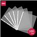 得力 11孔資料袋 (透明) A4 100張/包  5715