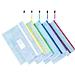 得力 双层网格学科拉链袋 (混色) A4 5个/包  33437