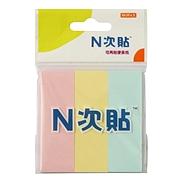 N次贴 指示标签纸 (3色) 76*25mm  32003