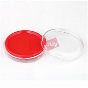 得力 印臺 (紅) 80mm  9863圓形