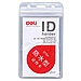得力 防水型證件卡 (透明) 豎式 10個/包  5759