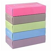 妮飘 盒装面巾纸(易优百专供) 150抽(双层) 5盒/组  BF150*5PGY