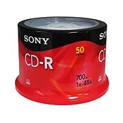 索尼 CD-R刻錄盤 700MB 50片/筒  50CDQ80S1