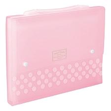 国誉 淡彩曲奇风琴包 (粉) A4 13袋  WSG-DFC130P