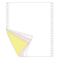 传美 彩色打印纸 (白/红/黄) 带裂线  241-3