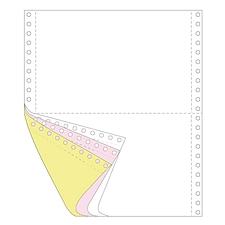 传美 彩色打印纸二等分 (白/红/黄) 带裂线  241-31/2