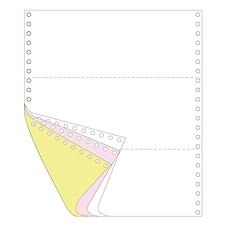 传美 彩色打印纸三等分 (白/红/黄) 带裂线  241-31/3