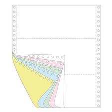 传美 彩色打印纸三等分 (白/红/绿/蓝/黄) 带裂线  241-51/3