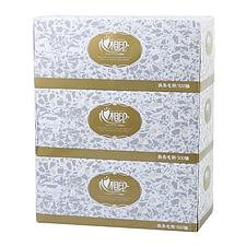 心相印 商用恒金系列2层200抽盒装面巾纸 3盒/提  D200(恒金)