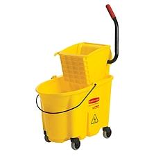 乐柏美 防溢测压式拖把压水桶组合 (黄色) 33.1L  FG758088YEL