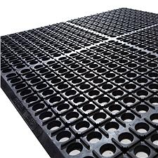 丽施美 特豪孔式橡胶防滑垫 (黑色) 0.9*1.5m  XJAS10-090150